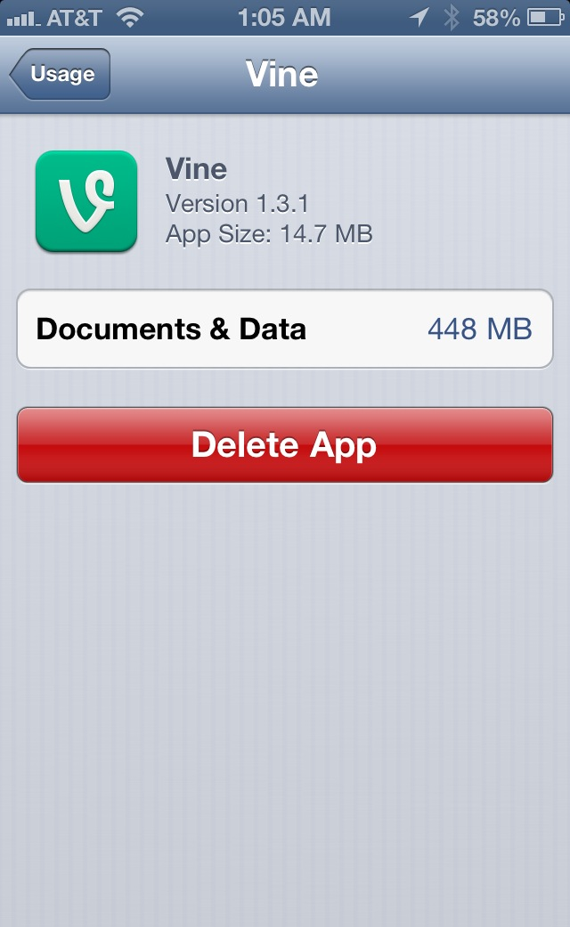 storage almost full on iphone storage almost and vine for iphone i 1484