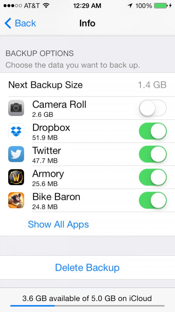 Delete iCloud iPhone Backup