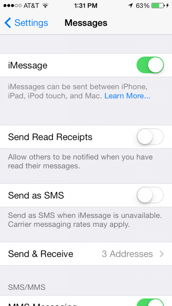 Turn Off read receipt on your iphone